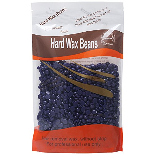 Bluezoo Body Hair Removal Hard Wax Beans for Men,Women,Stripless Depilatory Wax -10 Ounces/bag (Purple (Lavender smell))