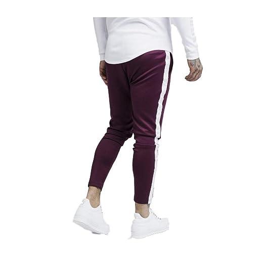 Sik Silk Pantalón de Chandal Atleta Burdeos: Amazon.es: Ropa y ...