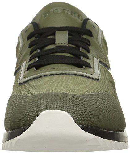 Diesel Uomo V-staffetta S-swifter Fashion Sneaker Notte Oliva / Lucertola