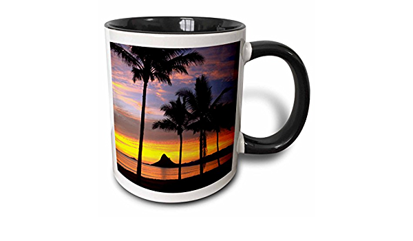3drose Chinamans Hat Kaneohe Bay Oahu Hawaii Us12 Dpb0103 Douglas Peebles Two Tone Mug 11 Oz Black White Kitchen Dining