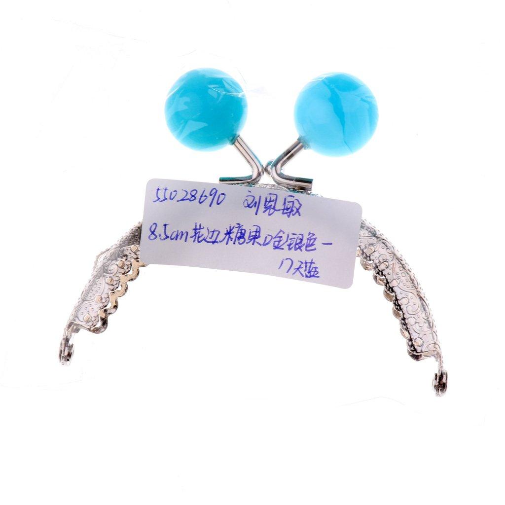 Baoblaze 5 St/ück Schliesse Taschenrahmen Taschenb/ügel zum Einn/ähen mit Clipverschluss f/ür Geldb/örse