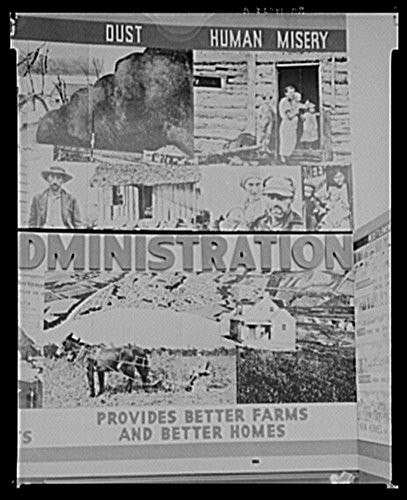 1936 Photo Panel of Resettlement Administration exhibit at San Diego Fair, California Location: California, San Diego, San Diego County