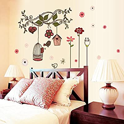 Hatop 50*70CM Bird Cage Wall Sticker Home Art Decor Wall Stickers Living Room Decals