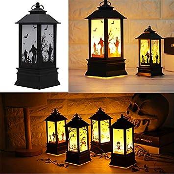 Lanlan lámpara llama LED farol Vintage Halloween lámpara de ...