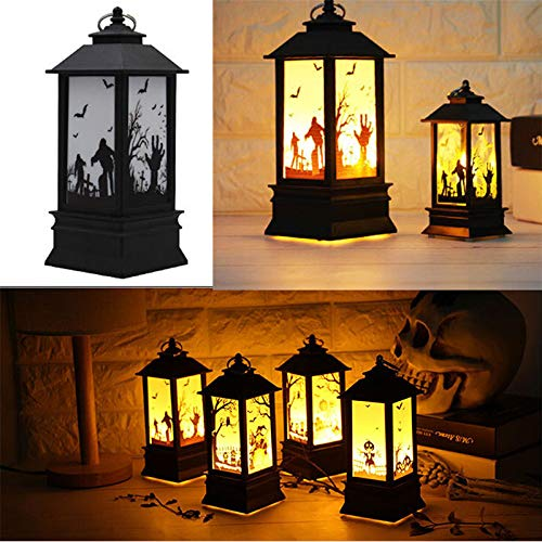 RONSHIN Creative Retro Halloween Simulate Flame Lantern Light Pendant Lamp for Party Halloween Decoration by RONSHIN