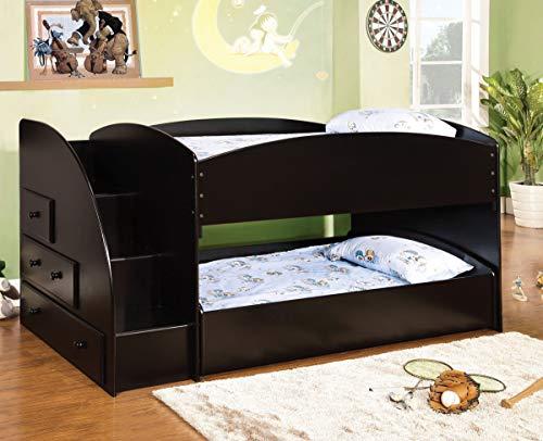 William's Home Furnishing Merritt Bunk, Black (Furniture Merritt Home)