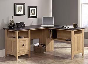 Amazon Com Sauder August Hill L Shaped Desk Dover Oak