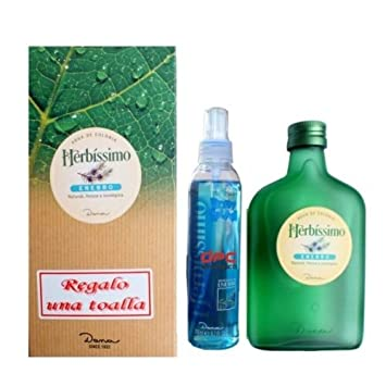 COLONIA HERBISSIMO ENEBRO 300ML + BODY SPLASH SPRAY 200ML + TOALLA / DE DANA: Amazon.es: Electrónica