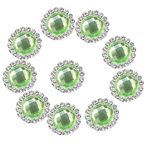 - 10x 18mm Decorative Acrylic Rhinestones Buttons DIY Wedding Craft Embellishment | Color - Cyan