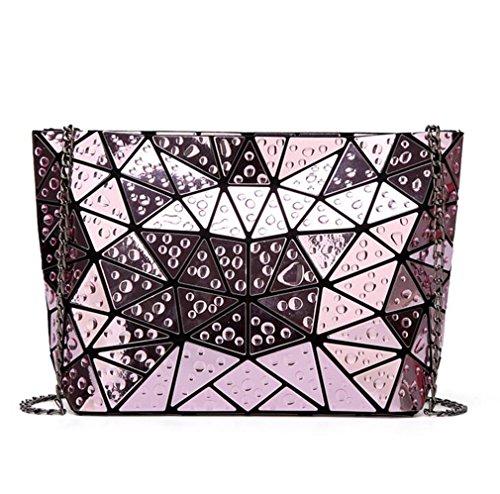 Haoling main sac de hologramme d'embrayage géométrique à main des à Mode pink bandoulière l'eau sac sac femmes sac à qrF6twrz