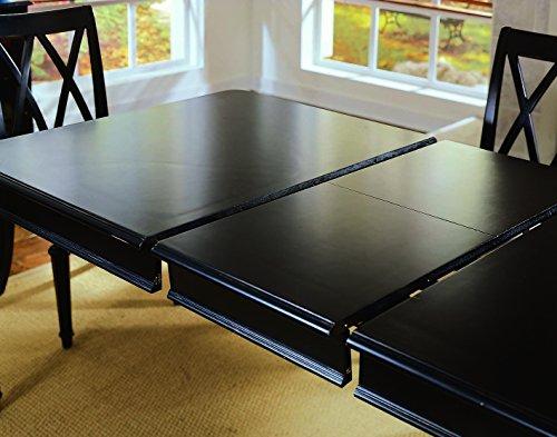 American Drew Camden-Dark 7 Piece Leg Dining Room Set in Black