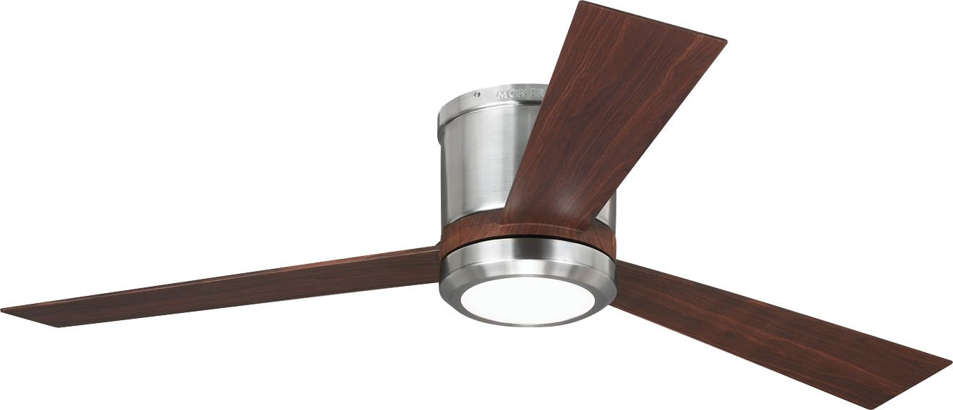 Monte carlo 3clyr52bsd clarity flush mount 52 brushed steel monte carlo 3clyr52bsd clarity flush mount 52 brushed steel ceiling fan with led light remote amazon aloadofball Choice Image