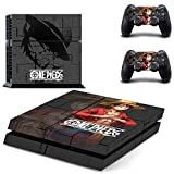 CloudSmart PS4 Designer Skin Decal for PlayStation 4 Console System and PS4 Wireless Dualshock Controller - One Piece by CloudSmart