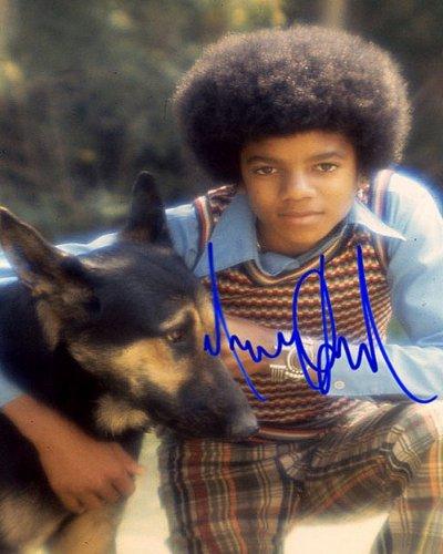 Michael Jackson Autographed Preprint Dog Signed 11x14 Poster Photo