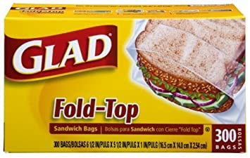 Glad Open Mouth Sandwich Bags, Case Pack, Twelve - 300 Count Bags (3600 Bags)