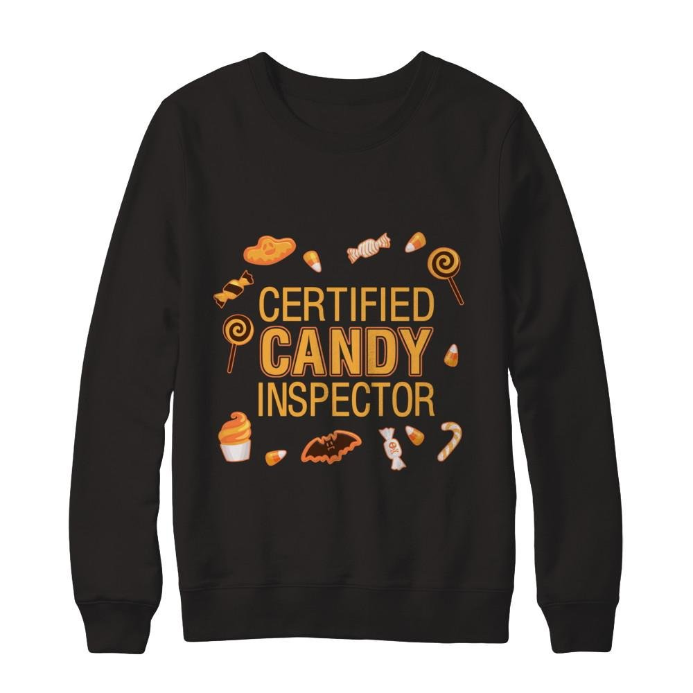 f7605d26 Teely Shop Men's Candy Inspector Funny Mom or DadHalloween Costume Gildan -  Pullover Sweatshirt