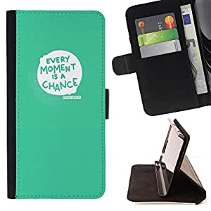 Dragon Case - FOR Samsung Galaxy A3 - every moment is a chance - Caja de la carpeta del caso en folio de cuero del tir¨®n de la cubierta protectora Shell