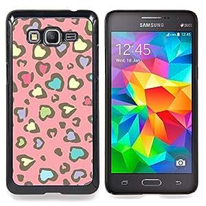 For Samsung Galaxy Grand Prime SM-G530F G530FZ G530Y G530H G530FZ/DS , Modelo de la piel del guepardo del rosa amarillo - Diseño Patrón Teléfono Caso Cubierta Case Bumper Duro Protección Case Cover Funda