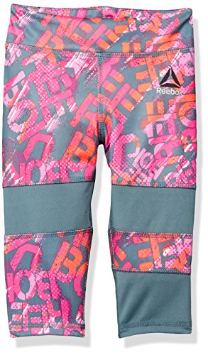 Price comparison product image Reebok Little Girls' Sport Active Capri Legging, Storm Grey, 4