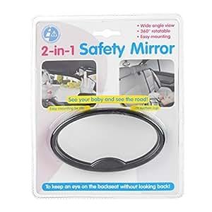 1 seguridad del beb coche espejo disponibles para frente delantero o trasero asiento de - Espejo coche bebe amazon ...