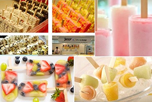 20pcs Stainless Steel Molds for Popsicles Maker Ice Lolly Ice Cream Pops Bars Stick Holder (D) by KikoPro (Image #5)