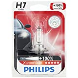 Philips H7 X-tremeVision Upgrade Headlight Bulb, 1 Pack