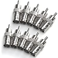 ZOSI 10 PCS BNC Female to RCA Male Cable Connector Adapter for CCTV Camera System