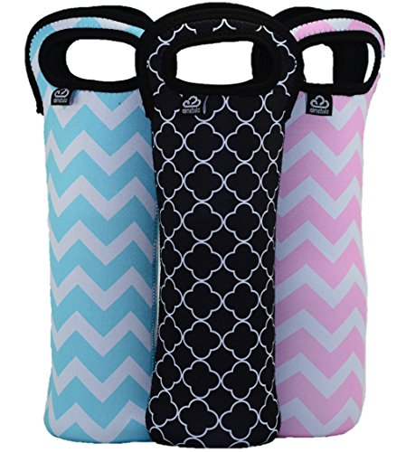 insulated-wine-water-bottle-totes-3-pack-15-inch-chevron-quatrefoil-design-by-air-nebula-blue-pink-b