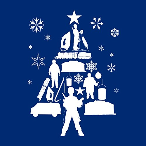 Silhouette Men's Alone Home White Royal Jacket Varsity Christmas white Tree 6UHRRn1q