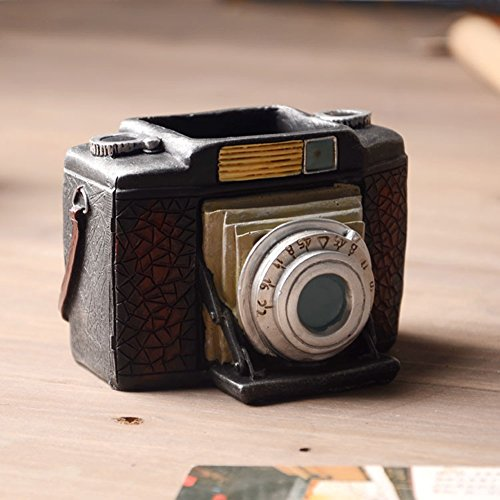 YOURNELO Retro Camera Pen Pencil Holder Desk Organizer Accessories