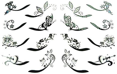 Linda Fashion Make Up Eyeliner Sticker, Black, 12 - Linda Fashion