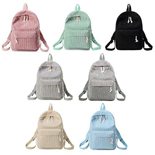 KofunSacchetti velluto borsa delle ragazze da Bookbags coste a scuola spalla borse Verde ragazze zaino delle di delle Zaino a dello viaggio di 6SqwxwY