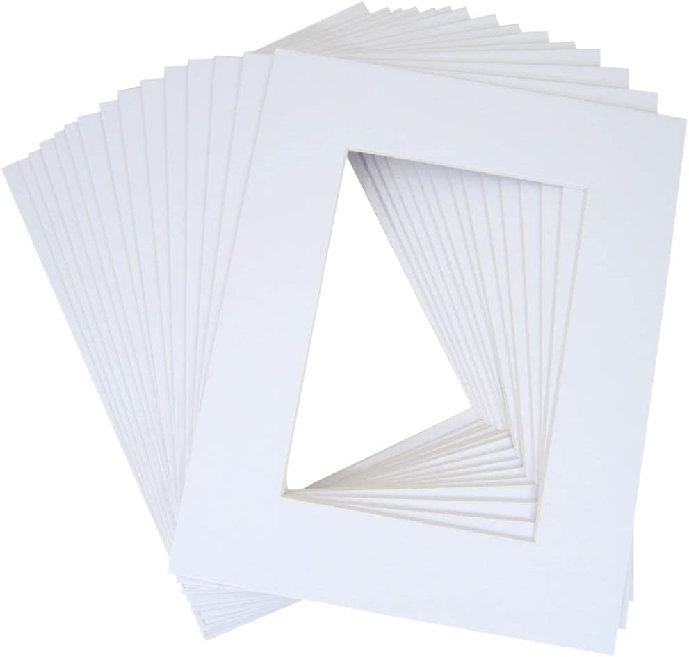10 of 18x24 White Pre-cut Acid-free whitecore mat, fits 13x19 + back 510n7JbHOxLSL1020_