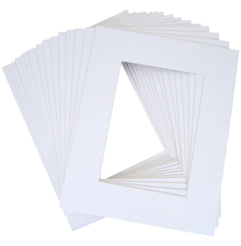 10 of 18x24 White Pre-cut Acid-free whitecore mat, fits 13x19 + back
