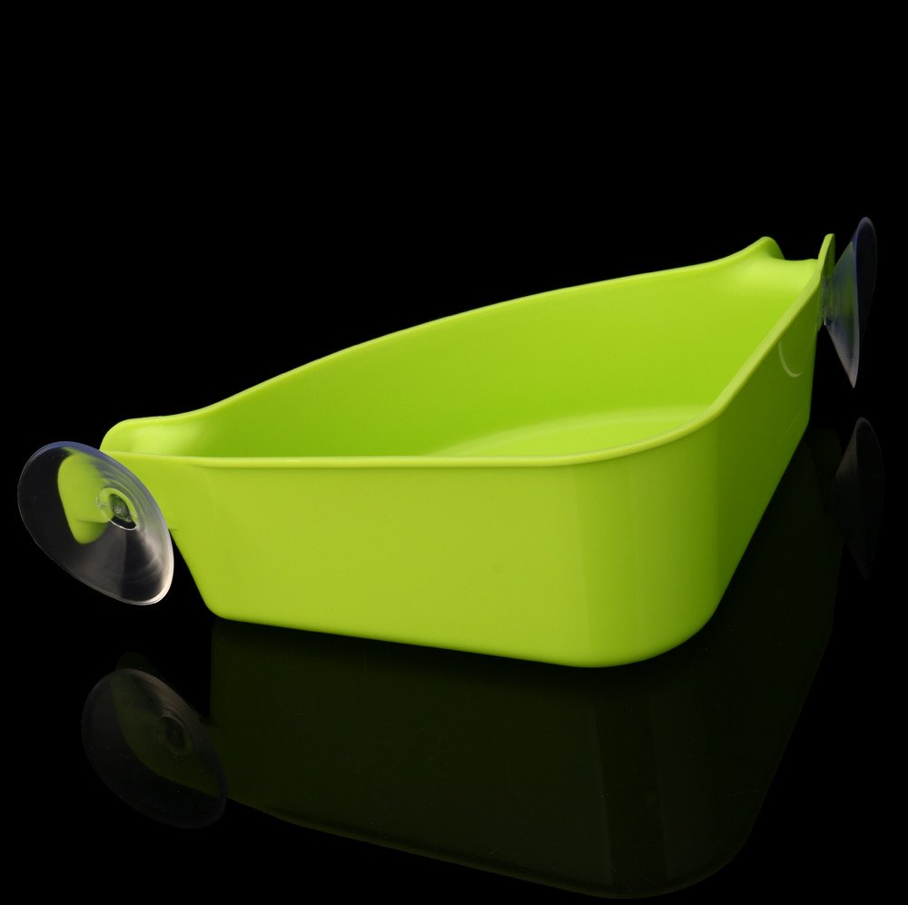 AGUIguo Home Bathroom Corner Shelf Suction Rack Organizer Cup Storage Shower Wall Basket (Green) by AGUIguo bathroom products (Image #2)