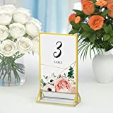 HIIMIEI Acrylic Gold Sign Holder, 5x7 Gold