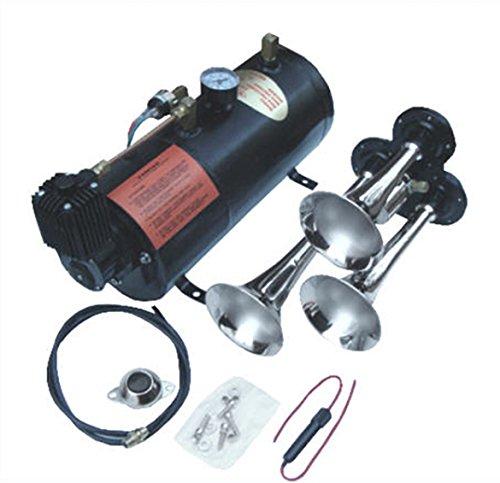 (Viking Horns V3301/301 Loud 139 Decibels Three Trumpet Air Horn Kit )