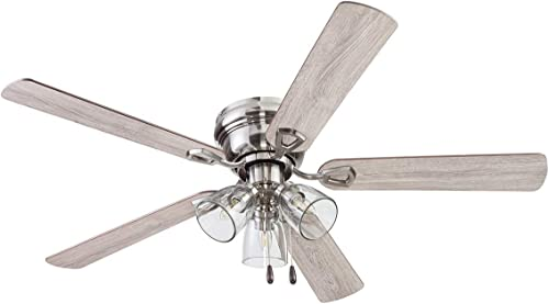Portage Bay Ceiling 52″ Renton Brushed Nickel Indoor Fan