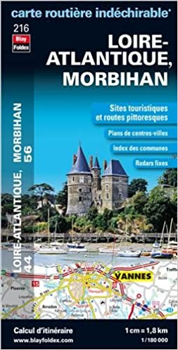 Loire Atlantique 44 Morbihan 56 Carte Routière