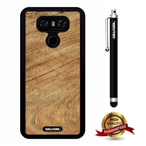 LG G6 Case, Wood Texture Case, Cowcool Ultra Thin Soft Silicone Case for LG G6 LGH870M - Random Yellow Wood (Yellow Balau Wood)