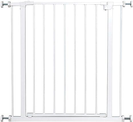 COSTWAY Barrera de Seguridad de Metal para Puerta Escalera sin Perforación Valla Protección para Perros: Amazon.es: Bebé