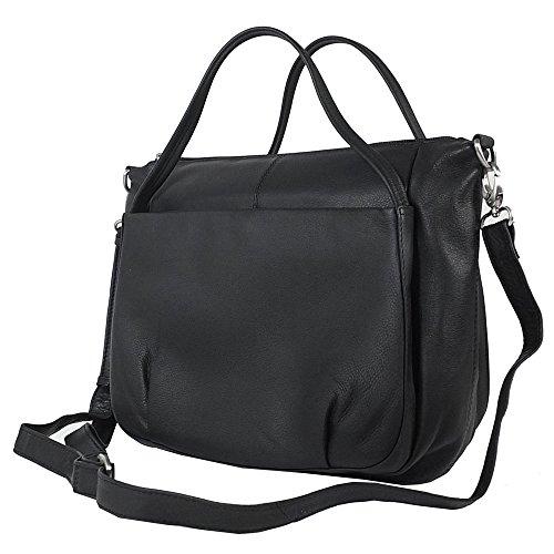 VOi Kurzgrifftasche 20761 Soft Leder Damen: Farbe: Schilf/Trüffel schwarz