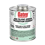 Oatey 30926 ABS to PVC Transition Cement, Green, 32-Ounce