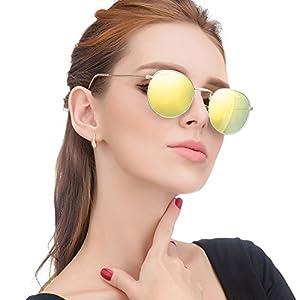 LianSan Classic Metal Frame Round Circle Mirrored Sunglasses Men Women Glasses 3447