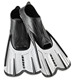 Cressi Agua Short Diving Swim Fin, White Silver, 5.5/6.5 (39/40)