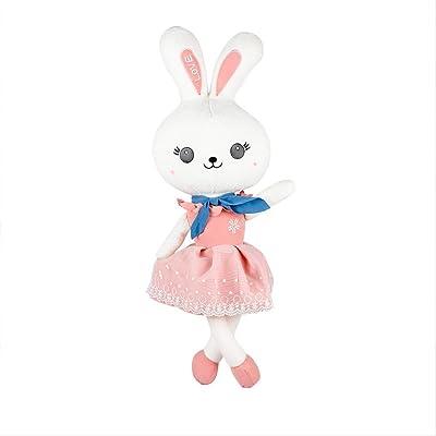 BEST9 Juguetes de Felpa Juguetes Suaves, Linda Almohada de muñeca de muñeca de Conejo Princesa, Regalo de cumpleaños de los niños, Rosa de 38m: Juguetes y juegos