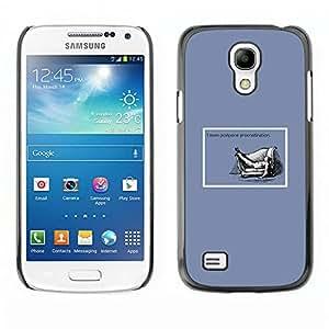 Qstar Arte & diseño plástico duro Fundas Cover Cubre Hard Case Cover para SAMSUNG Galaxy S4 mini VERSION! / i9190 / i9192 ( Procrastination Quote Life Funny Work Success)