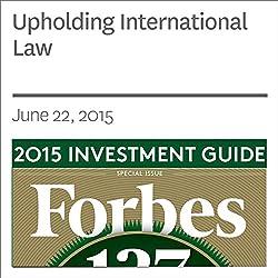 Upholding International Law