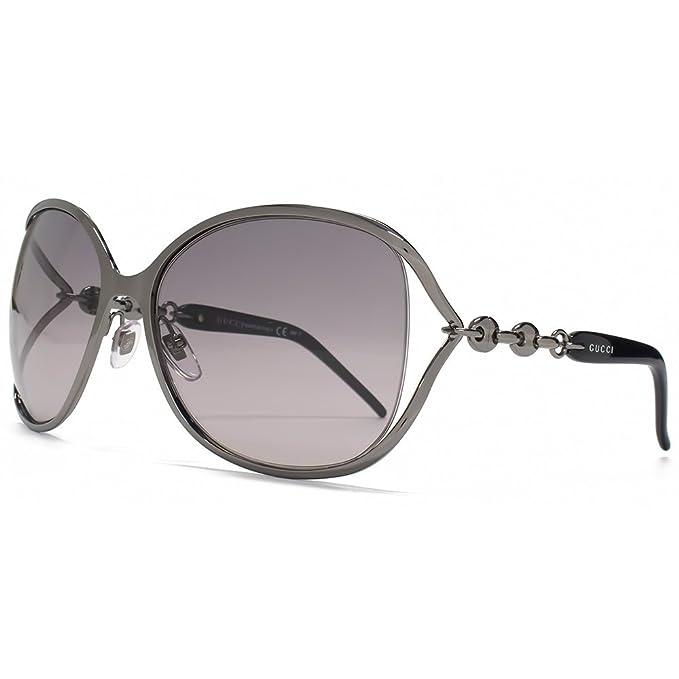 d99650480d4 Gucci Chain Temple Cut Out Sunglasses in Dark Ruthenium GG 4250 S KJ1 EU  60  Amazon.ca  Clothing   Accessories