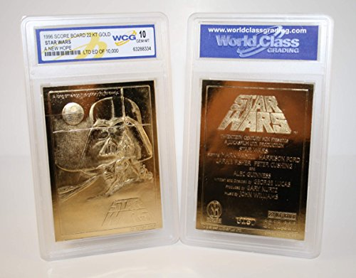 Star Wars A NEW HOPE Original Movie Poster 23KT Gold Card Graded GEM MINT 10 from Score Board